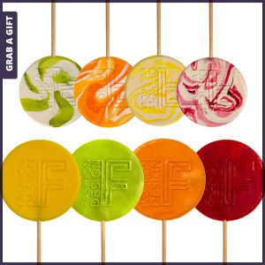 Grab a Gift - Lolly met logo