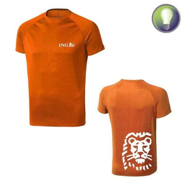 T-shirt, polo met logo