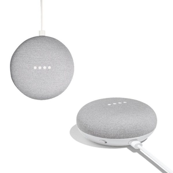 Google home speakers met logo