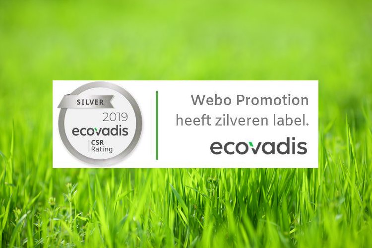 Zilver voor Webo Promotion EcoVadis