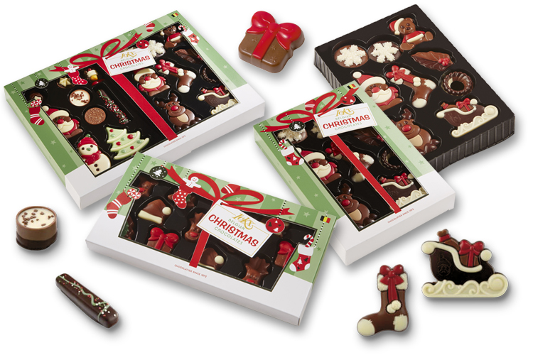 Choco-paradijs - Collectie Ickx Christmas - Belgian Chocolates