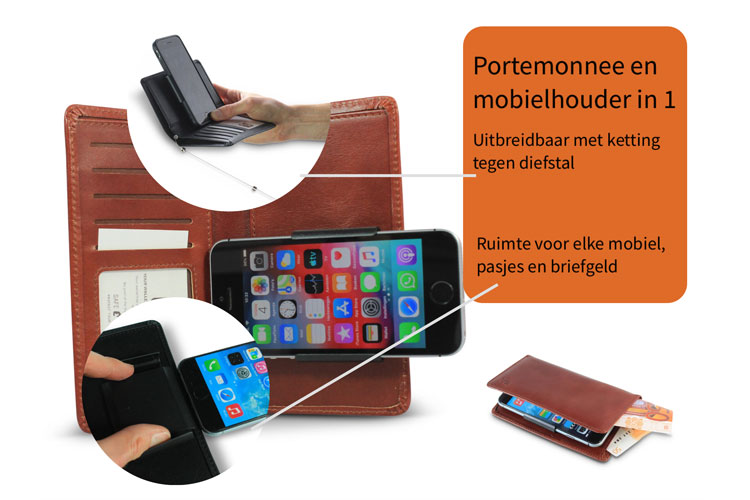 telefoonportemonnee all-in-one