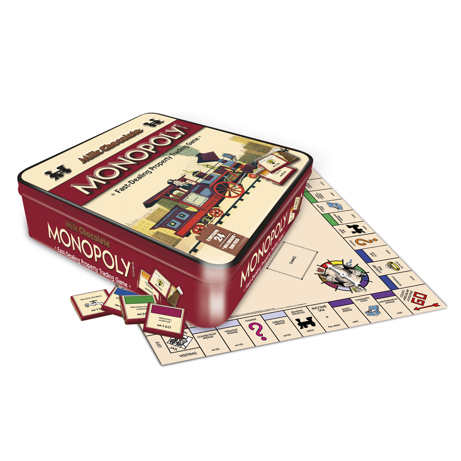 Chocolade Monopoly en chocolade Scrabble Gamesformotion